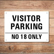 Personalised Visitor Parking Metal Sign