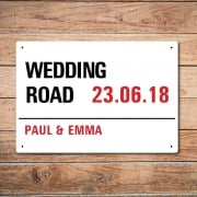 Personalised Wedding Day London Metal Sign