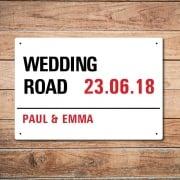 Personalised 'Wedding Day' Metal Sign