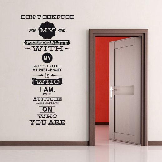 Wall Chimp Personality Wall Sticker Quote