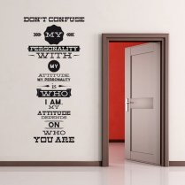 Personality Wall Sticker Quote