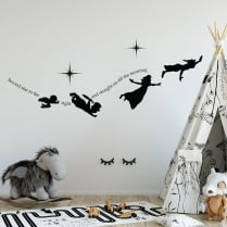 Peter Pan Wall Sticker Quote