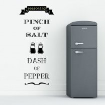 Pinch of Salt and Pepper Wall Sticker Quote