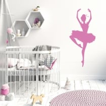 Pirouette Ballet Dancer Two Wall Sticker