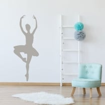 Pirouette Ballet Dancer Wall Sticker