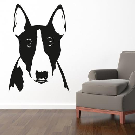 Wall Chimp Pitbull Dog Head Wall Sticker