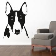 Pitbull Dog Head Wall Sticker