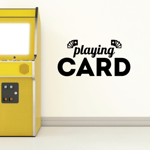 Wall Chimp Playing Cards Wall Sticker