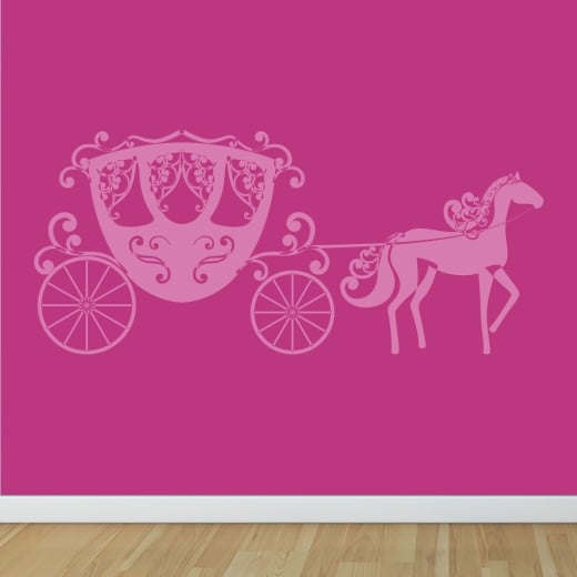 Wall Chimp Princess Horse & Carriage Wall Sticker