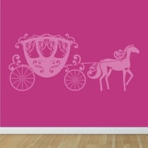 Princess Horse & Carriage Wall Sticker