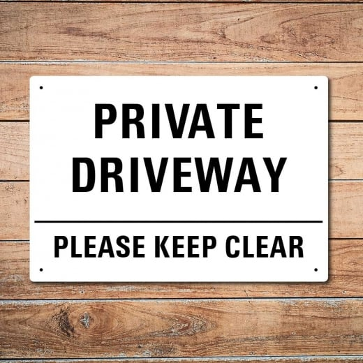 Wall Chimp Private Driveway Metal Sign