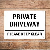 Private Driveway Metal Sign