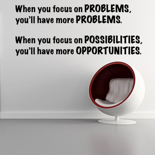 Wall Chimp Problems vs. Opportunities Wall Sticker Quote