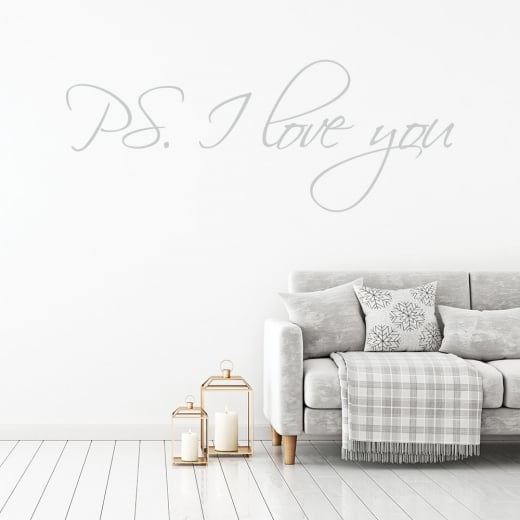 Wall Chimp PS. I Love You Wall Sticker