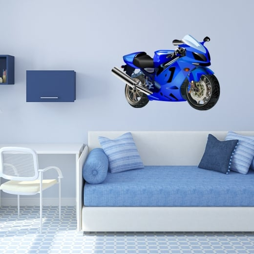 Wall Chimp Racing Motorbike Wall Sticker