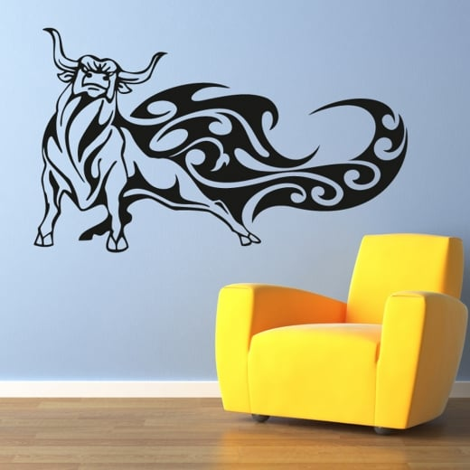 Wall Chimp Raging Bull Wall Sticker