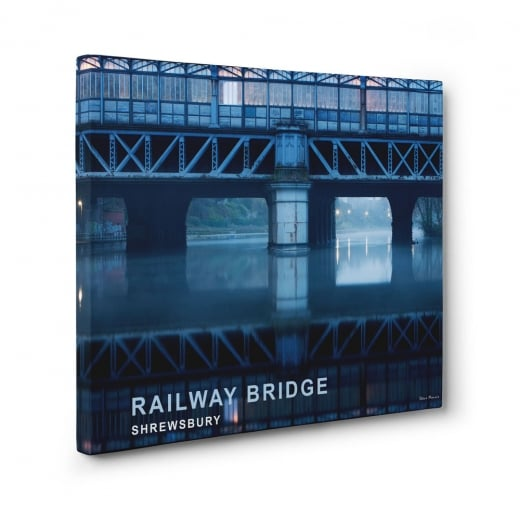 Wall Chimp Railway Bridge - Shrewsbury Canvas Print