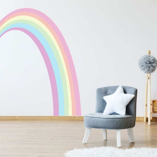 Wall Chimp Rainbow Printed Wall Sticker