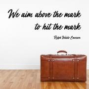 Ralph Waldo Emerson Motivational Quote Wall Sticker