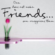 Recognize Friends Wall Sticker Quote
