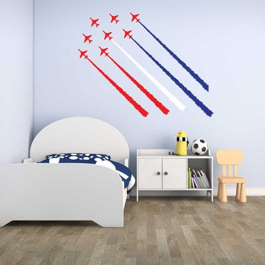 Wall Chimp Red Arrow Jet Planes 2 Printed Wall Stickers