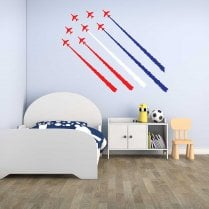 Red Arrow Jet Planes 2 Printed Wall Stickers