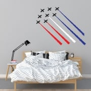 Red Arrow Jet Planes Printed Wall Stickers
