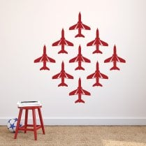 Red Arrow Jets Wall Sticker Pack