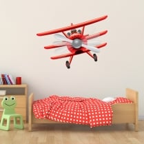 Red Baron Bi-Plane Printed Wall Sticker