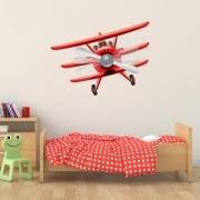 Red Baron Bi-Plane Printed Wall Sticker