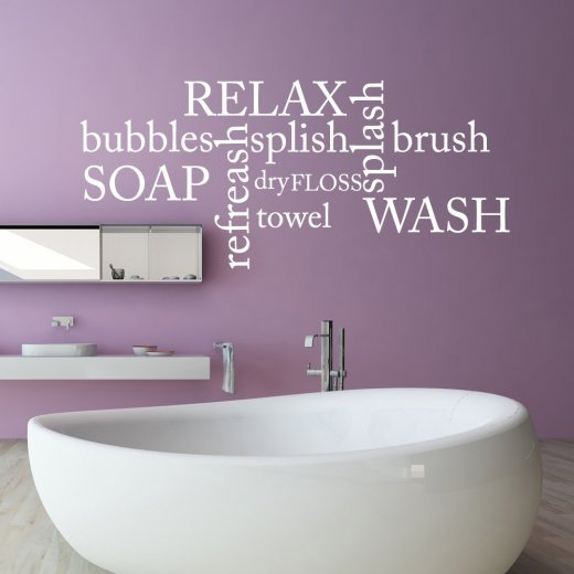 Wall Chimp Relax Soap Towel Wall Sticker Quote