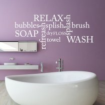 Relax Soap Towel Wall Sticker Quote
