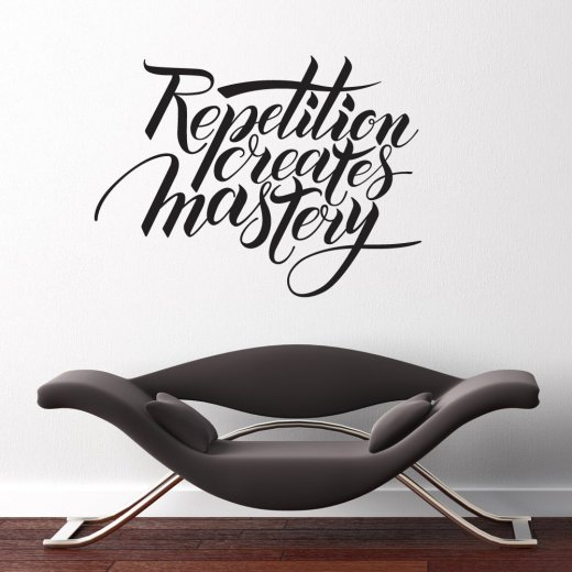 Wall Chimp Repetition Creates Mastery Wall Sticker Quote