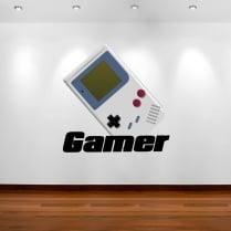 Retro Gamer Wall Sticker
