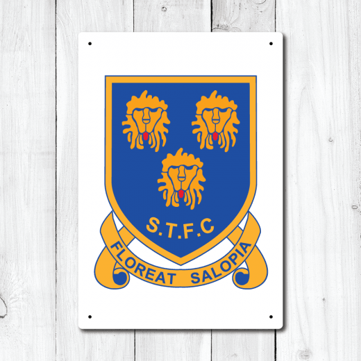 Wall Chimp Retro Shrewsbury Town Football Metal Sign