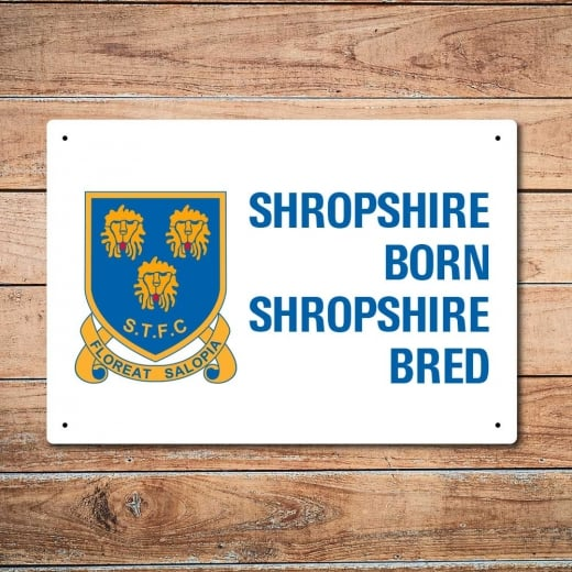 Wall Chimp Retro Shrewsbury Town Shropshire Born Shropshire Bred Metal Sign