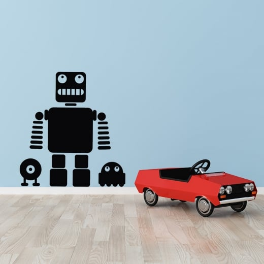 Wall Chimp Robots Silhouette Wall Sticker