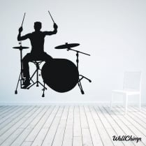 Rock Band Drummer Wall Sticker