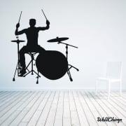 Rock Band Drummer Wall Sticker
