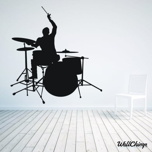 Wall Chimp Rock Band Drummer Wall Sticker