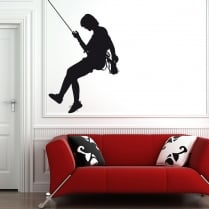 Rock Climber Wall Sticker