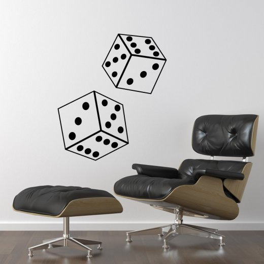 Wall Chimp Rolling Dice Wall Sticker