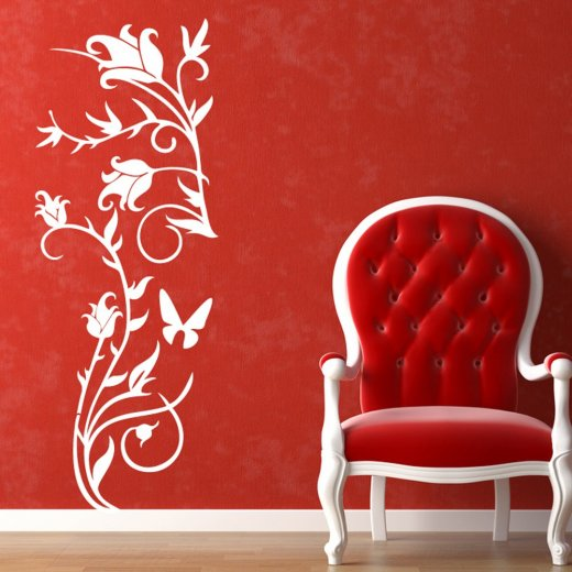 Wall Chimp Rose Flower Wall Sticker