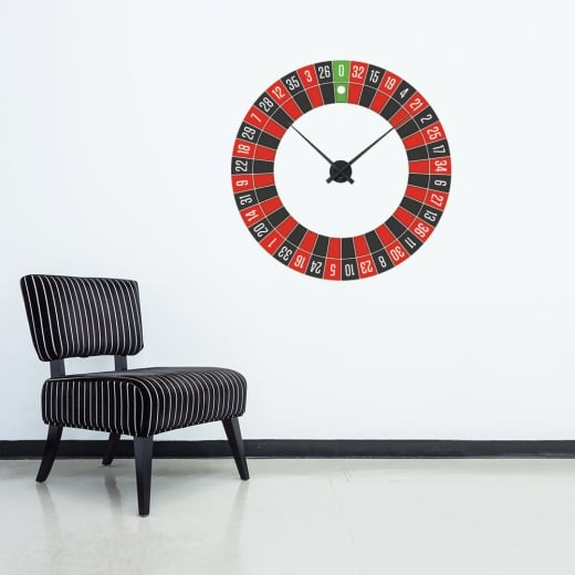 Wall Chimp Roulette Wheel Wall Clock