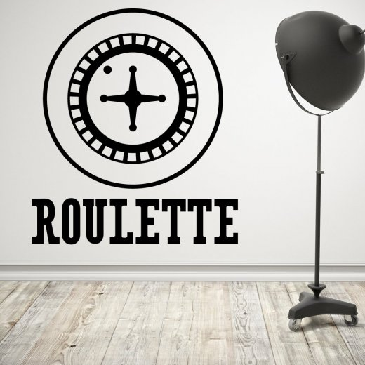 Wall Chimp Roulette Wheel Wall Sticker