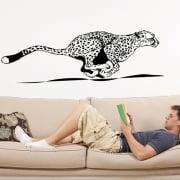 Running Leopard Wall Sticker
