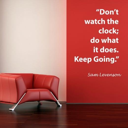 Wall Chimp Sam Levenson Motivational Quote Wall Sticker