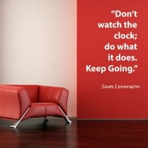 Sam Levenson Motivational Quote Wall Sticker