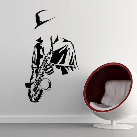 Wall Chimp Saxophone Player Wall Sticker