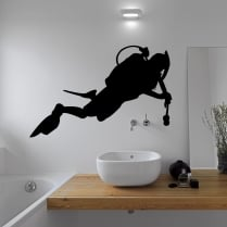 Scuba Diver Wall Sticker